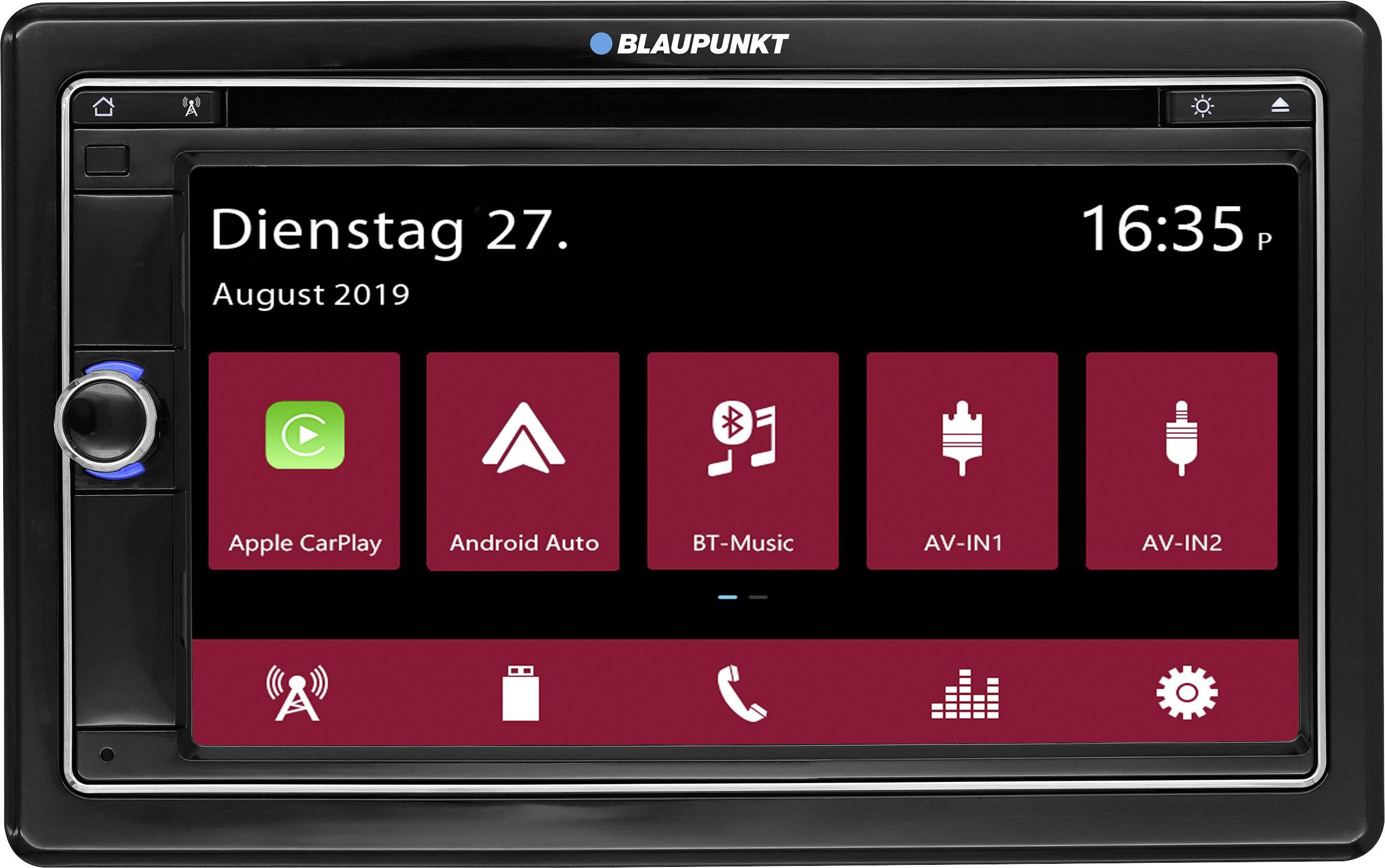 Conrad-Blaupunkt Vienna 790 DAB Autoradio met scherm dubbel DIN Bluetooth handsfree, Aansluiting voor stuurbediening, Aansluiting voor achteruitrijcamera, AppRadio, DAB+ tuner-aanbieding