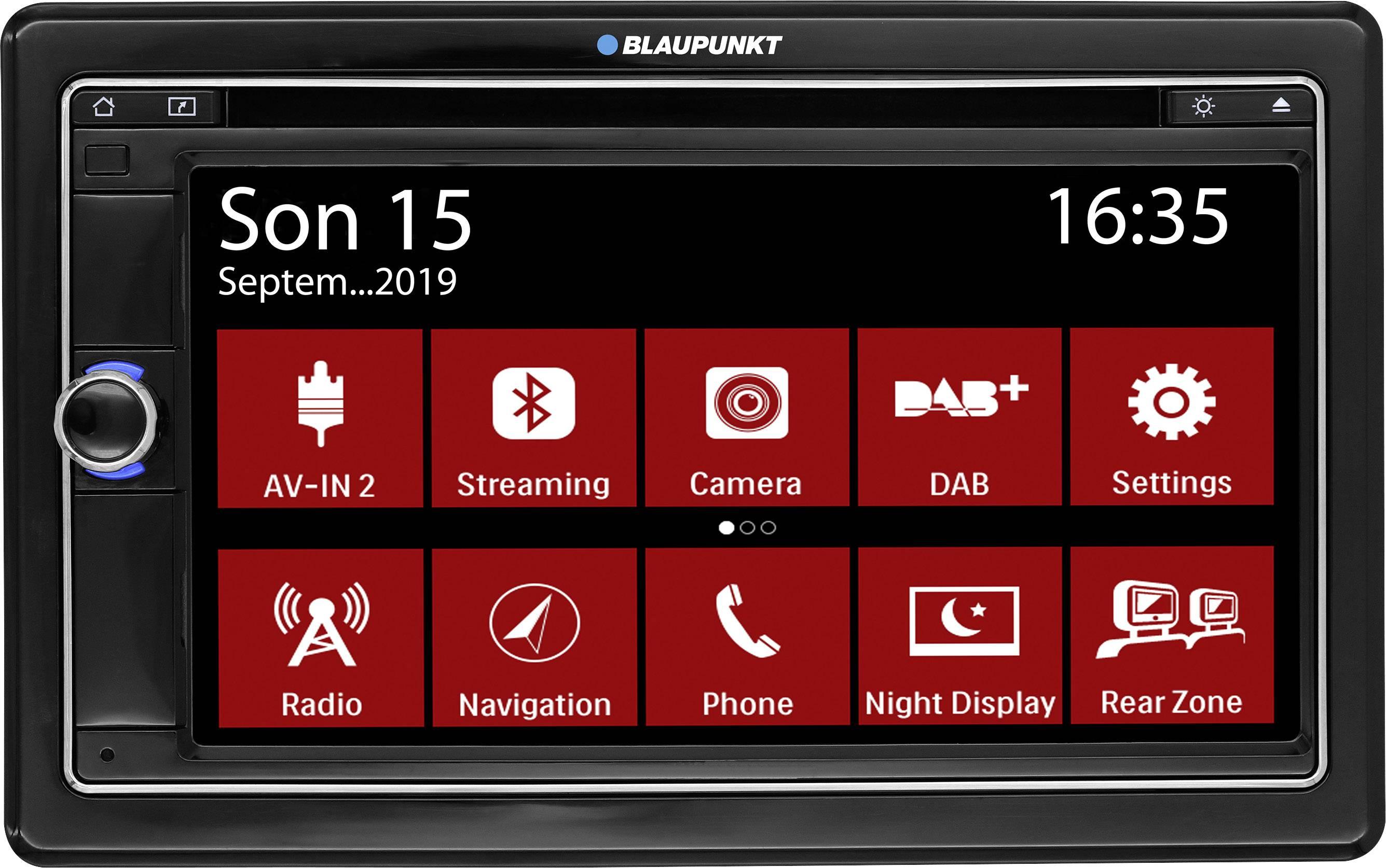 Conrad-Blaupunkt Las Vegas 690 DAB Autoradio met scherm dubbel DIN Bluetooth handsfree, Aansluiting voor achteruitrijcamera, Aansluiting voor stuurbediening, DAB+ tuner-aanbieding