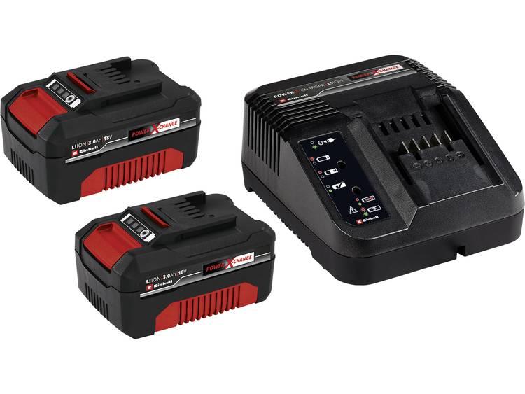 Einhell PXC-Starter-Kit 2x 3Ah & 30min PXC Kit 4512098 Accu en acculader voor gereedschap 18 V 3.0 A