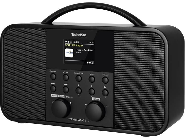 TechniSat TECHNIRADIO 5 IR Tafelradio met internetradio Internet, DAB+, FM WiFi