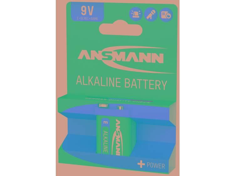 Ansmann 6LR61 Red-Line 9V batterij (blok) Alkaline 9 V 1 stuk(s)
