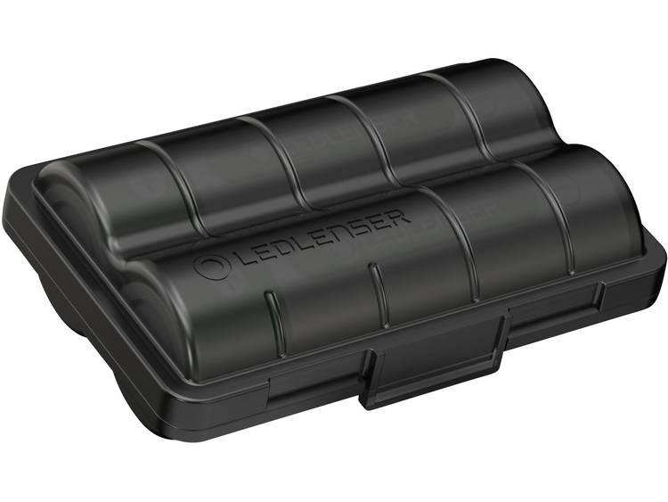Ledlenser 2x 18650 +Batterybox Speciale oplaadbare batterij 18650 Li-ion 3.6 V 3400 mAh