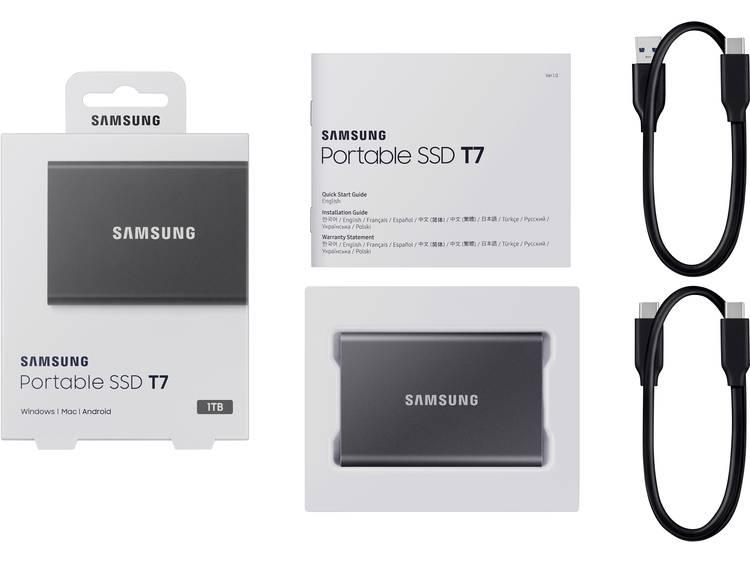 Samsung MU-PC1T0T/WW Portable T7 Externe SSD harde schijf 1 TB USB 3.2 (Gen 2) kopen
