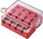 Platte zekeringhouder voor 4 zekeringen met LED-aanduiding 32 V/30 A