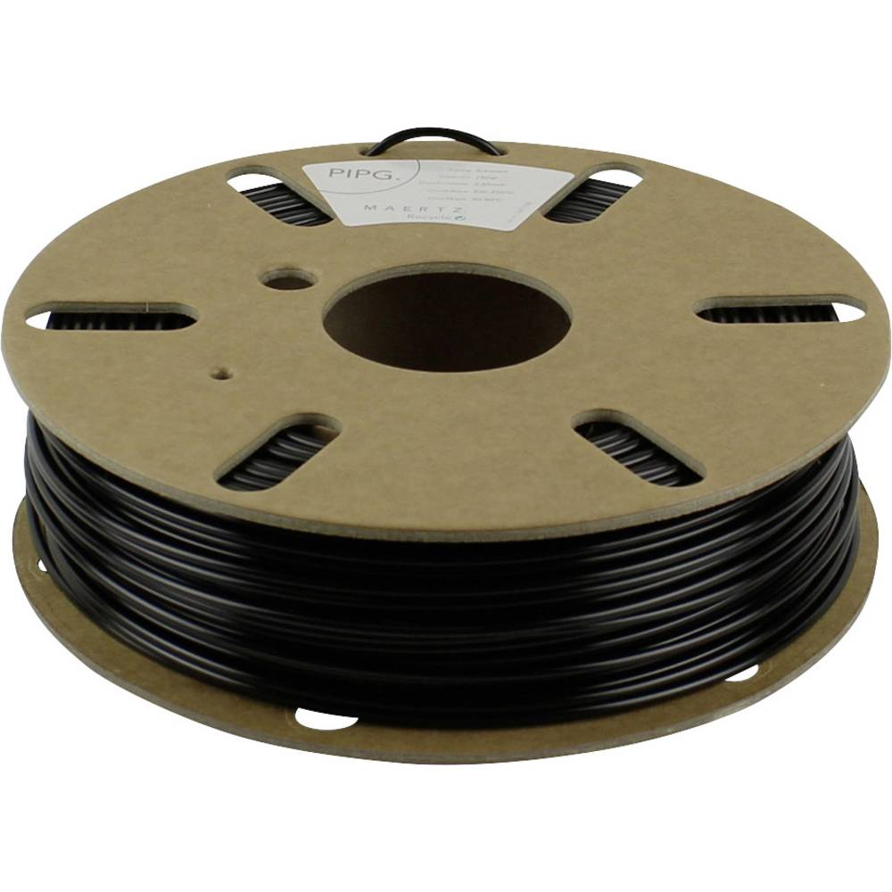 Maertz PMMA-1003-001 PETG 3D-skrivare Filament PETG 1.75 mm 750 g Svart 1 st