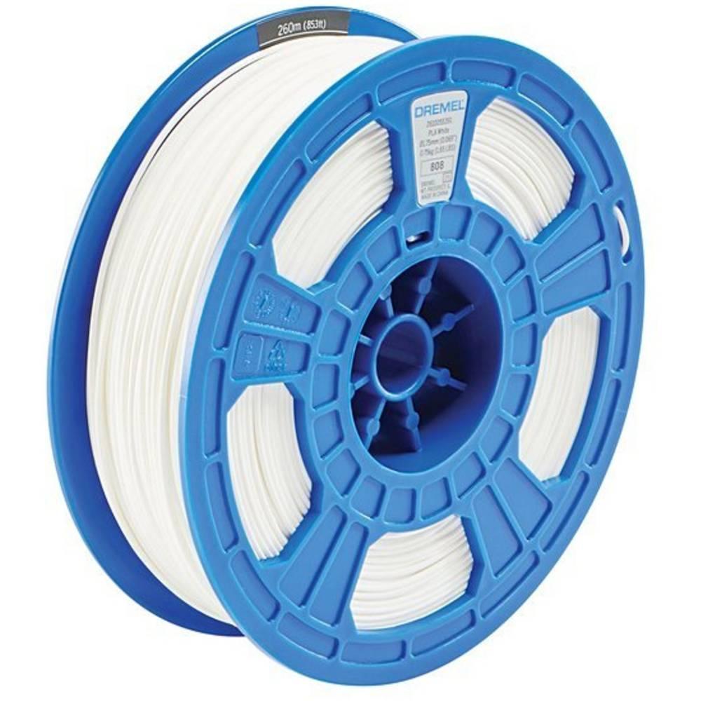 Dremel 2615PL01JA DR 3D PLA Filament D01 weiß RFID 3D-skrivare Filament PLA-plast 1.75 mm Vit 750 g