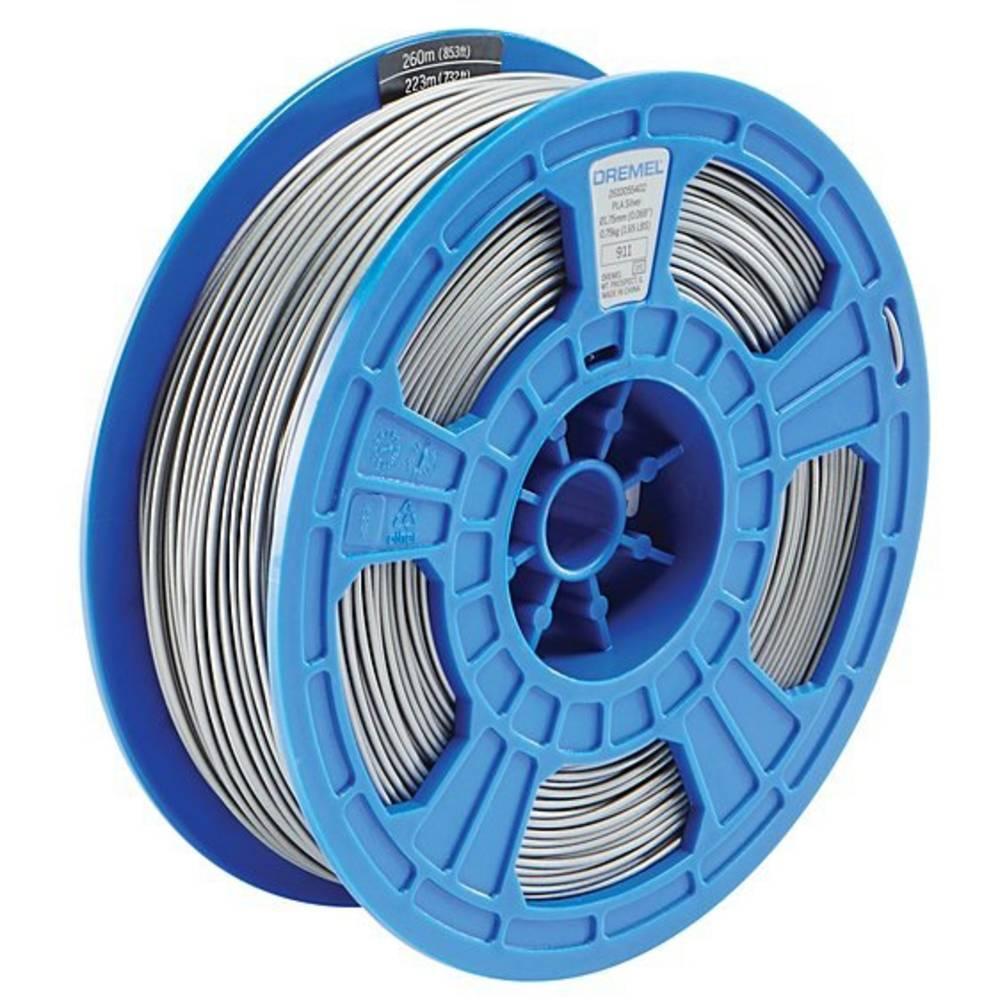 Dremel 2615PL10JA DR 3D PLA Filament D50 silber RFID Filament PLA kunststof 1.75 mm Zilver 750 g