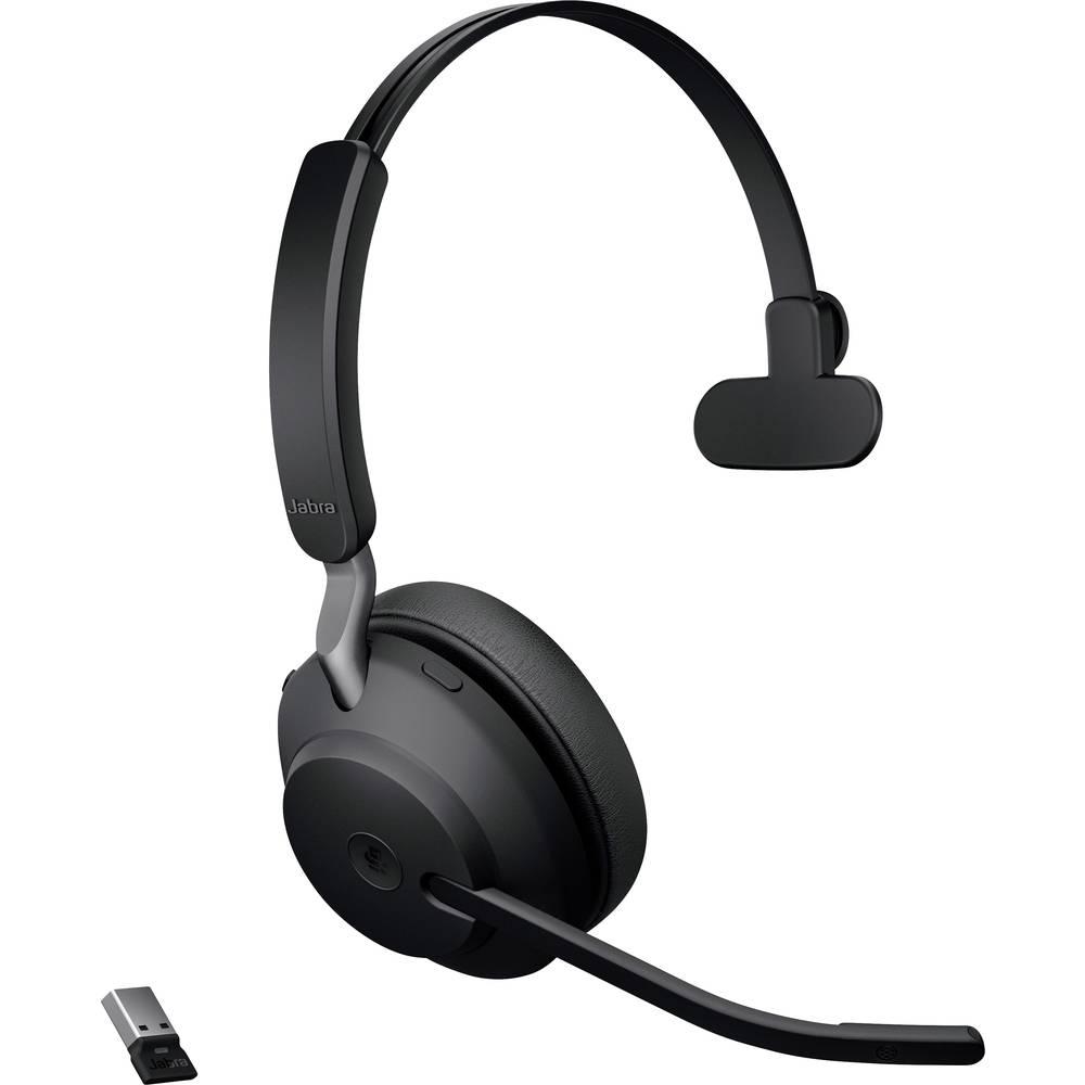 Jabra Evolve2 65 monaural Headset Bluetooth, USB Draadloos Over Ear Zwart