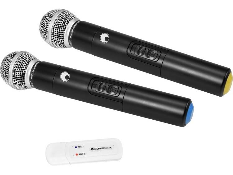 OMNITRONIC UWM-2HH USB Wireless Mic Set with two Handheld Microphones