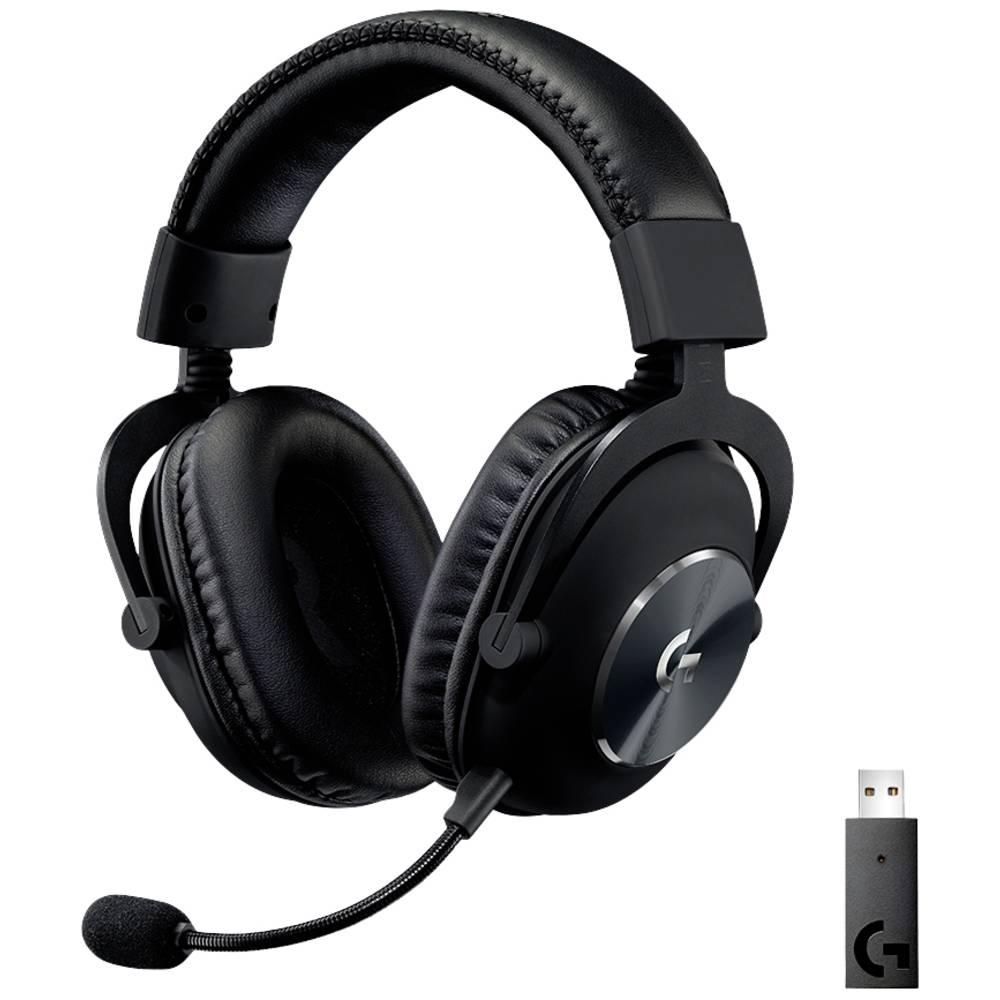 Logitech Gaming PRO X Gaming-headset 2,4 GHz radio Sladdlöst, Stereo On-ear Svart