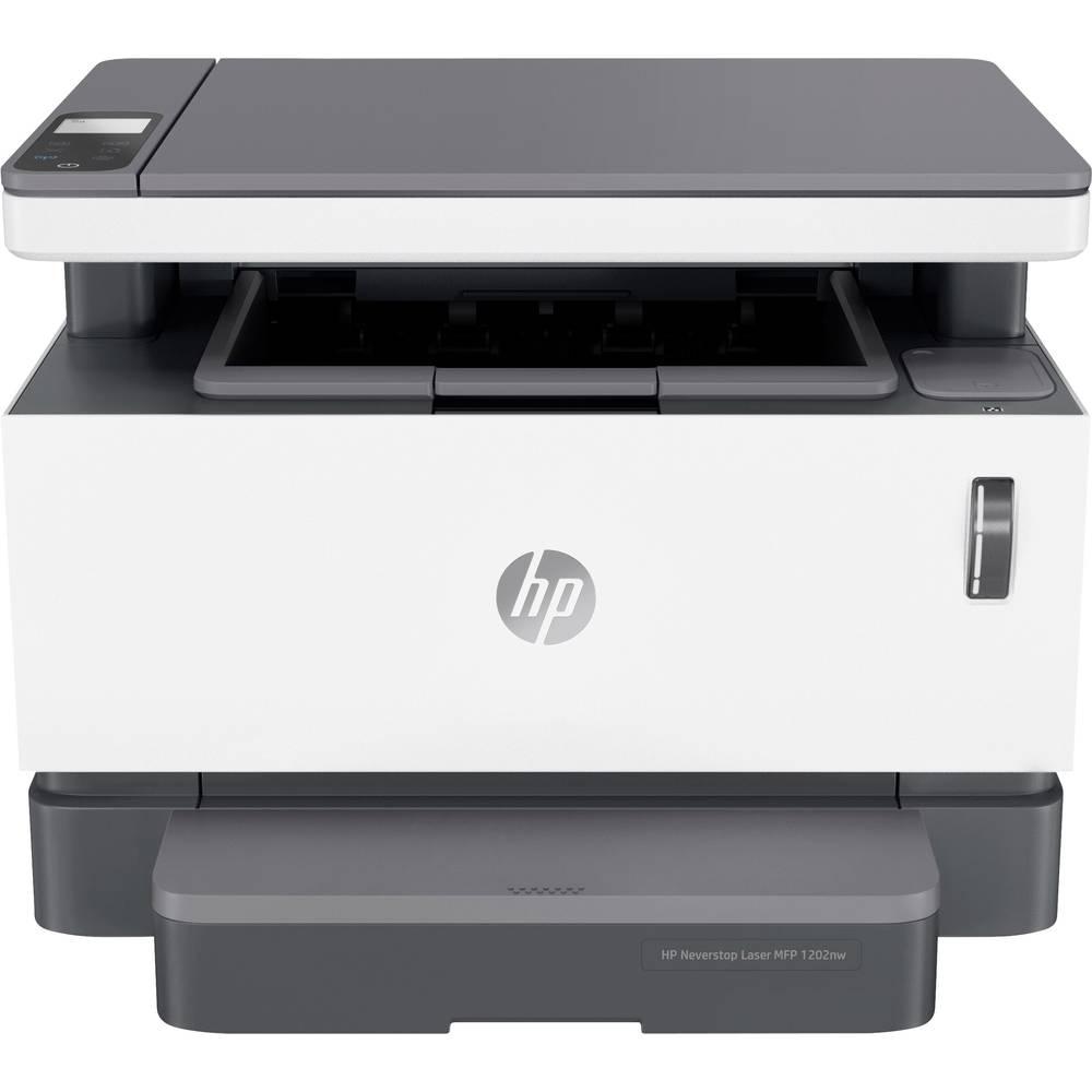 HP Neverstop Laser MFP 1202nw Laser-MFP A4 Skrivare, skannrar, kopiatorer Toner-påfyllningssystem, LAN, WiFi