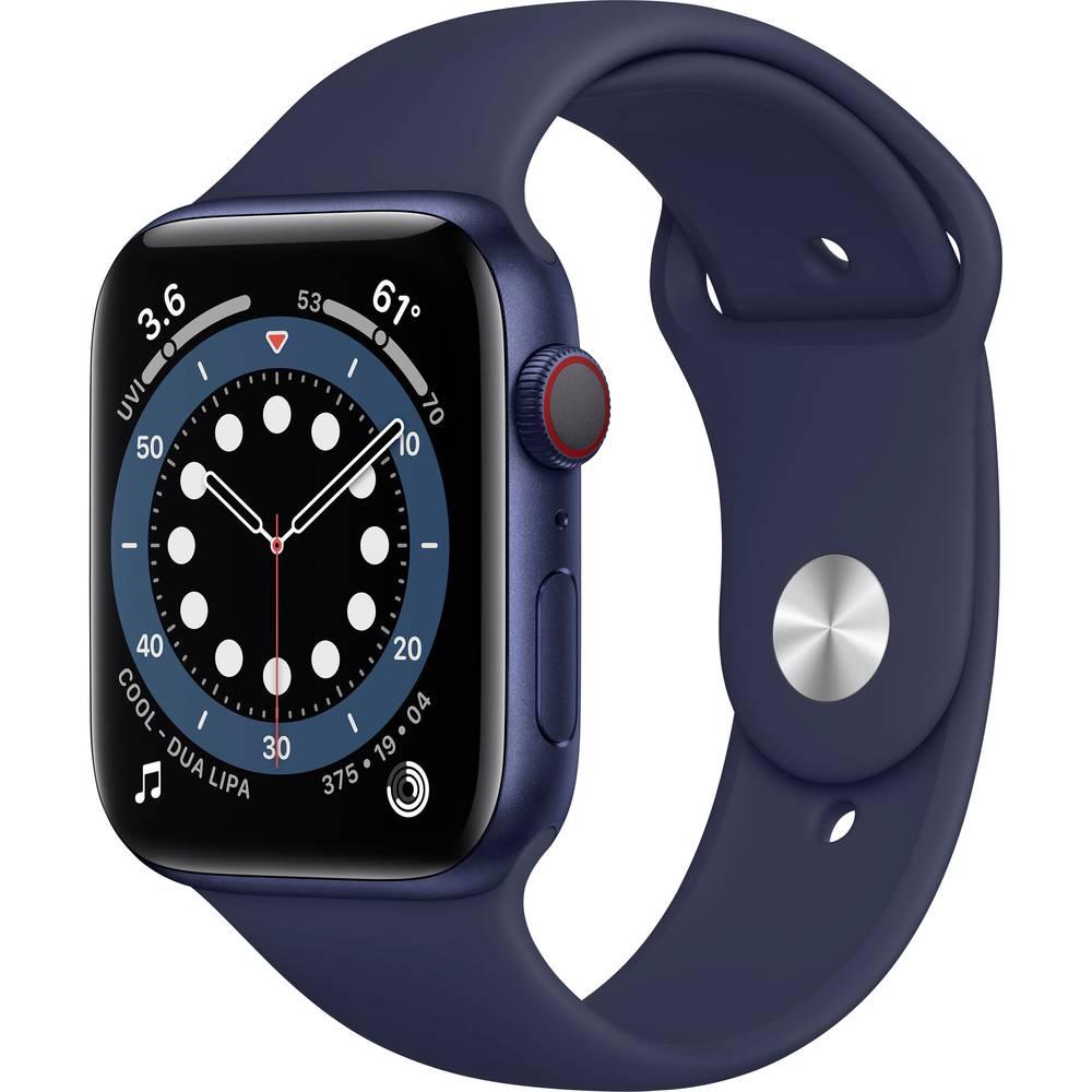 Apple Watch Series 6 GPS + Cellular 44 mm Aluminium kast Blue Sportband Deep Navy
