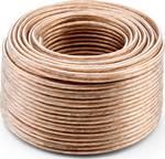 RCA LS-kabel 2x2,5 mmm/m glashelder 20 m.