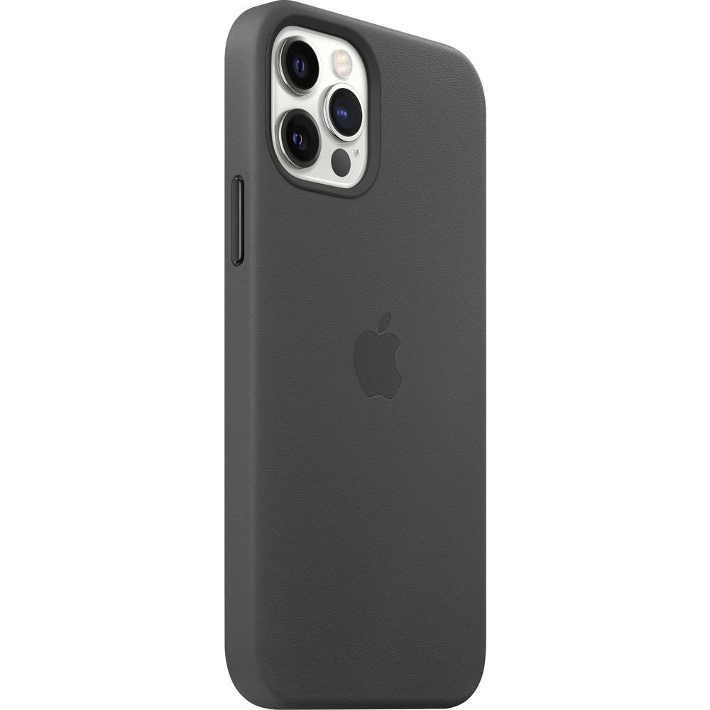 Apple iPhone 12 Pro Leder Case Leder Case iPhone 12, iPhone 12 Pro Svart