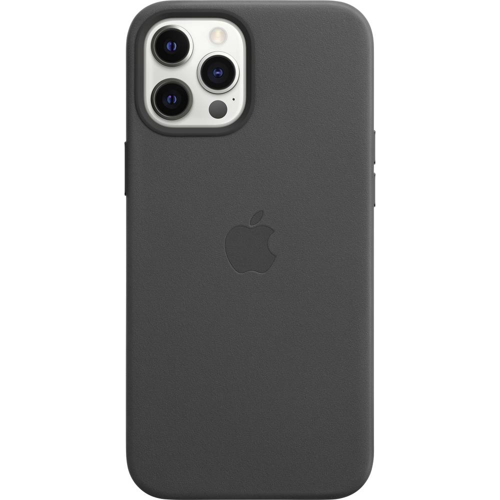 Apple iPhone 12 Pro Max Leder Case Leder Case iPhone 12 Pro Max Svart