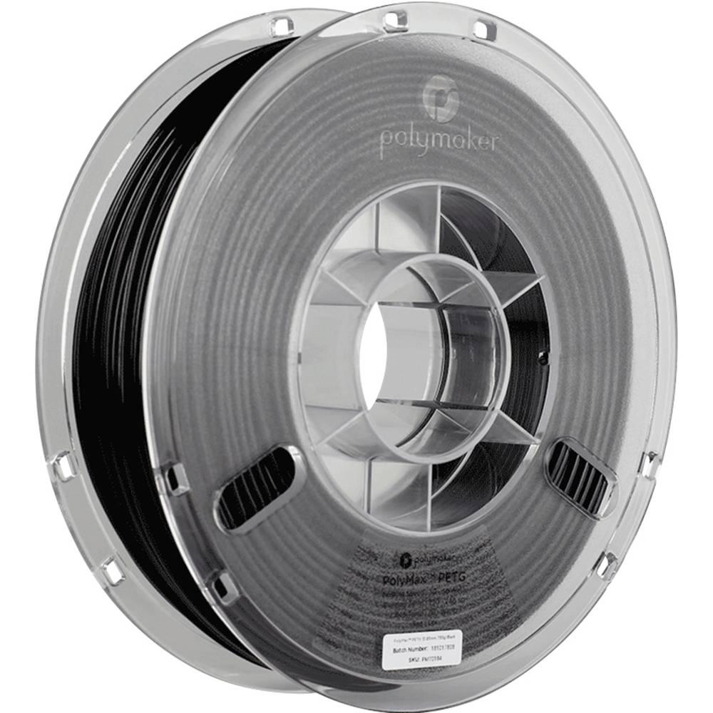 Polymaker 70184 PolyMax 3D-skrivare Filament PETG 2.85 mm 750 g Svart 1 st