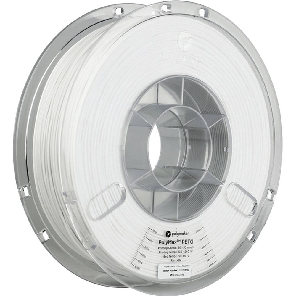 Polymaker 70186 PolyMax 3D-skrivare Filament PETG 1.75 mm 750 g Vit 1 st