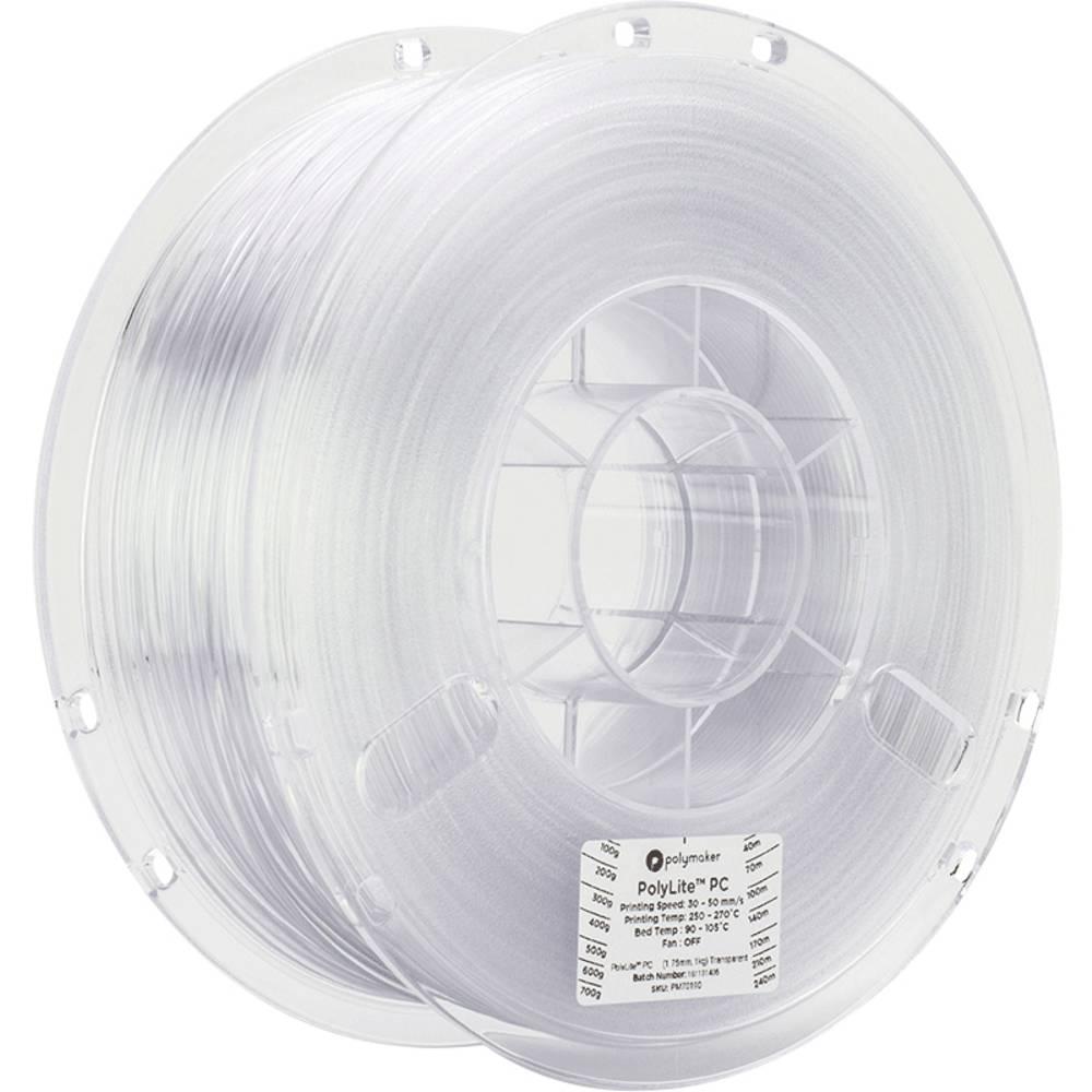 Polymaker 70190 PolyLite PC 3D-skrivare Filament PC (Polykarbonat) 1.75 mm 1000 g Transparent 1 st