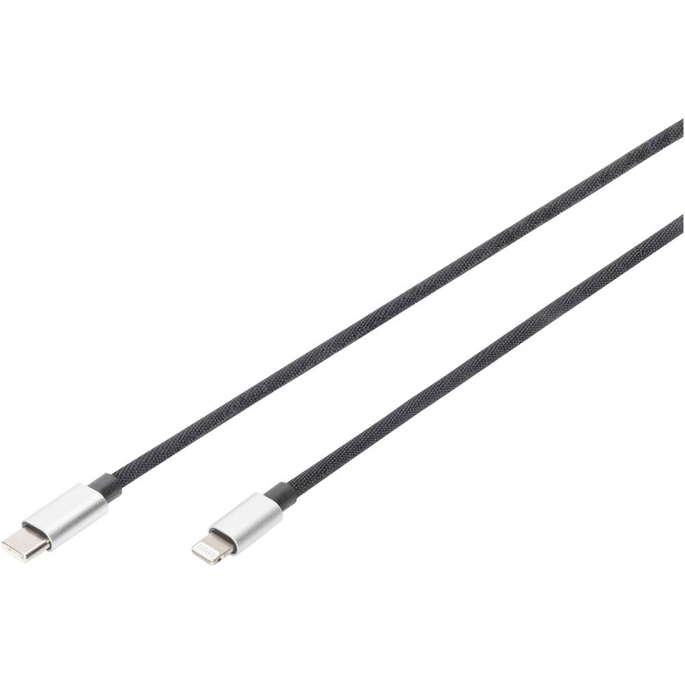 Digitus DB-600109-010-S Lightning-kabel 1 m Zwart