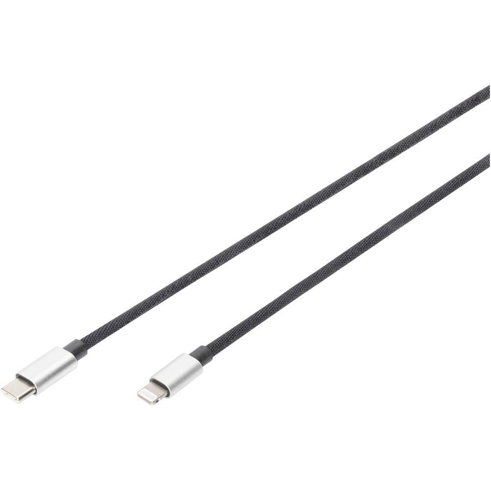 Digitus DB-860001-010-S Lightning-kabel 1 m Zwart