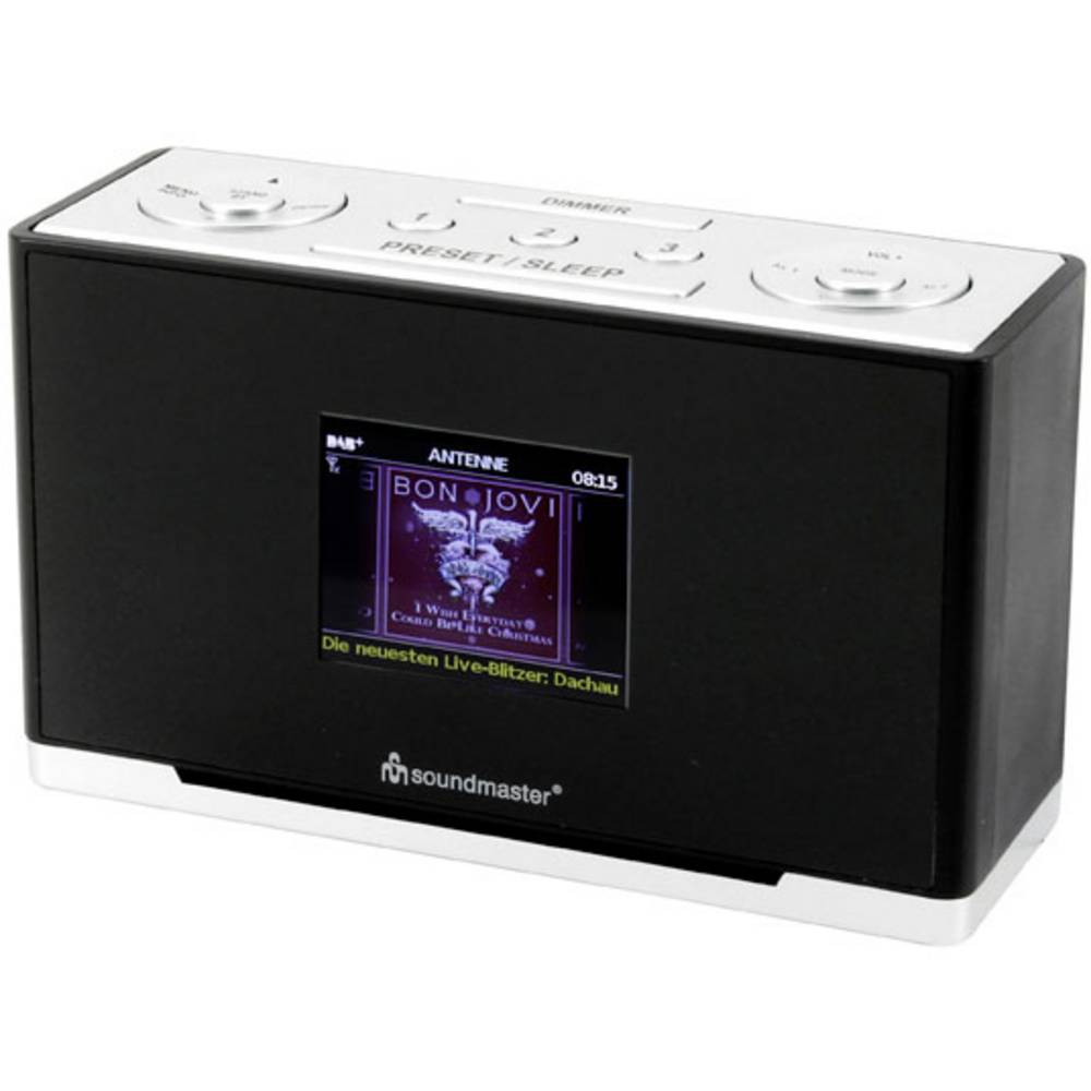 soundmaster UR240SW Tafelradio DAB+, FM AUX, DAB+, FM Zwart