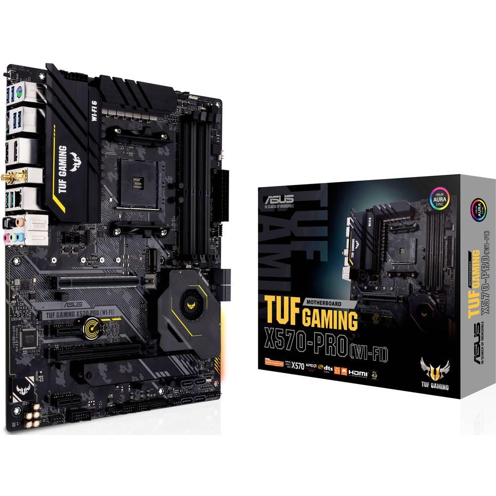 Asus TUF GAMING X570-PRO (WI-FI) Moderkort Sockel AMD AM4 Formfaktor ATX Moderkort-chipset AMD® X570