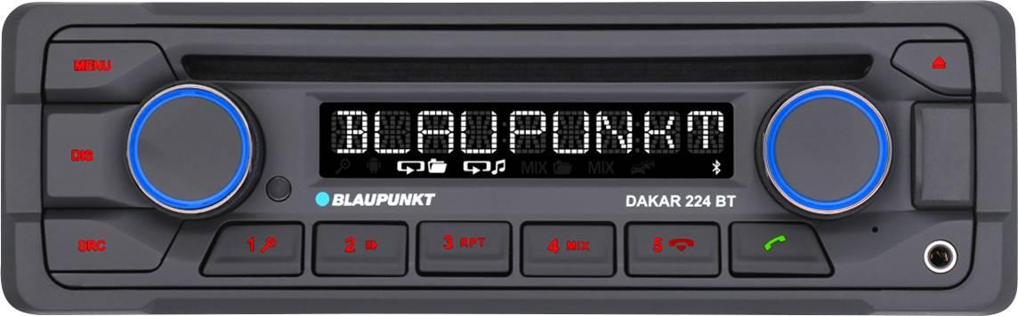 Conrad-Blaupunkt Dakar 224 BT Autoradio enkel DIN Aansluiting voor stuurbediening, Bluetooth handsfree, Incl. afstandsbediening-aanbieding