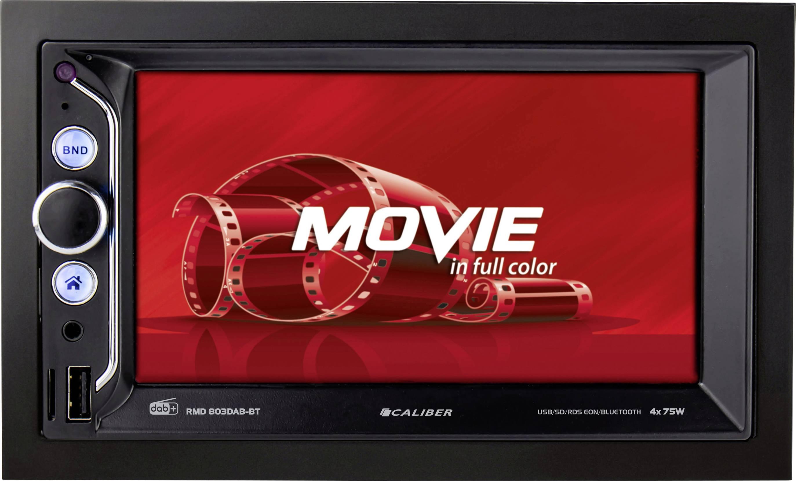 Conrad-Caliber Audio Technology RMD803DAB-BT Autoradio met scherm Aansluiting voor achteruitrijcamera, Bluetooth handsfree, DAB+ tuner, Incl. DAB-antenne, Incl. afstandsbediening-aanbieding