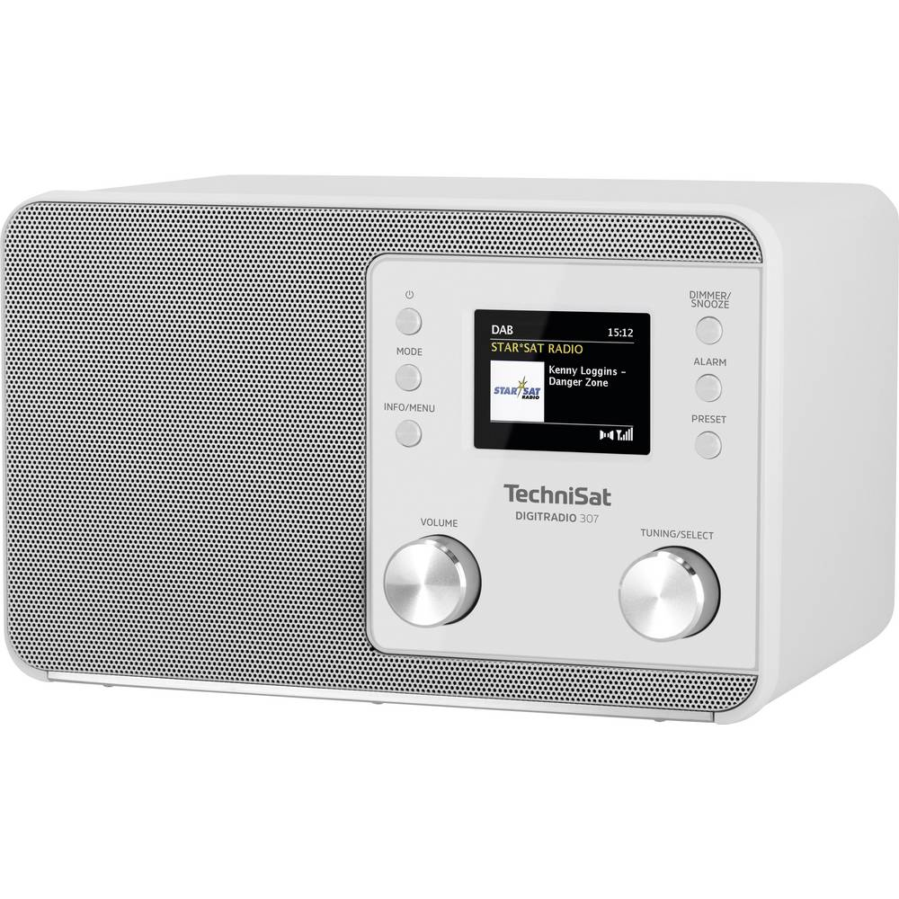 TechniSat DIGITRADIO 307 Tafelradio DAB+, FM AUX, DAB+, FM Wekfunctie Wit