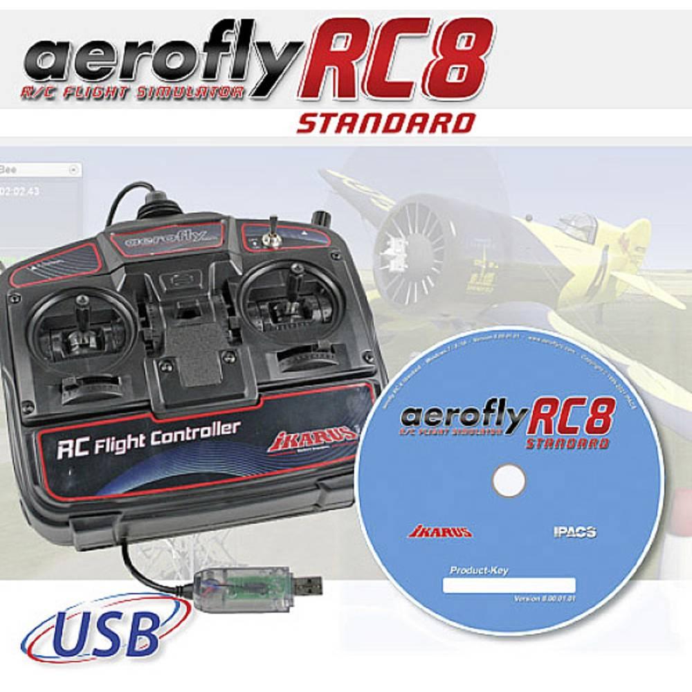 Ikarus Aerofly RC8 Modellbygge flygsimulator Inkl. sändare