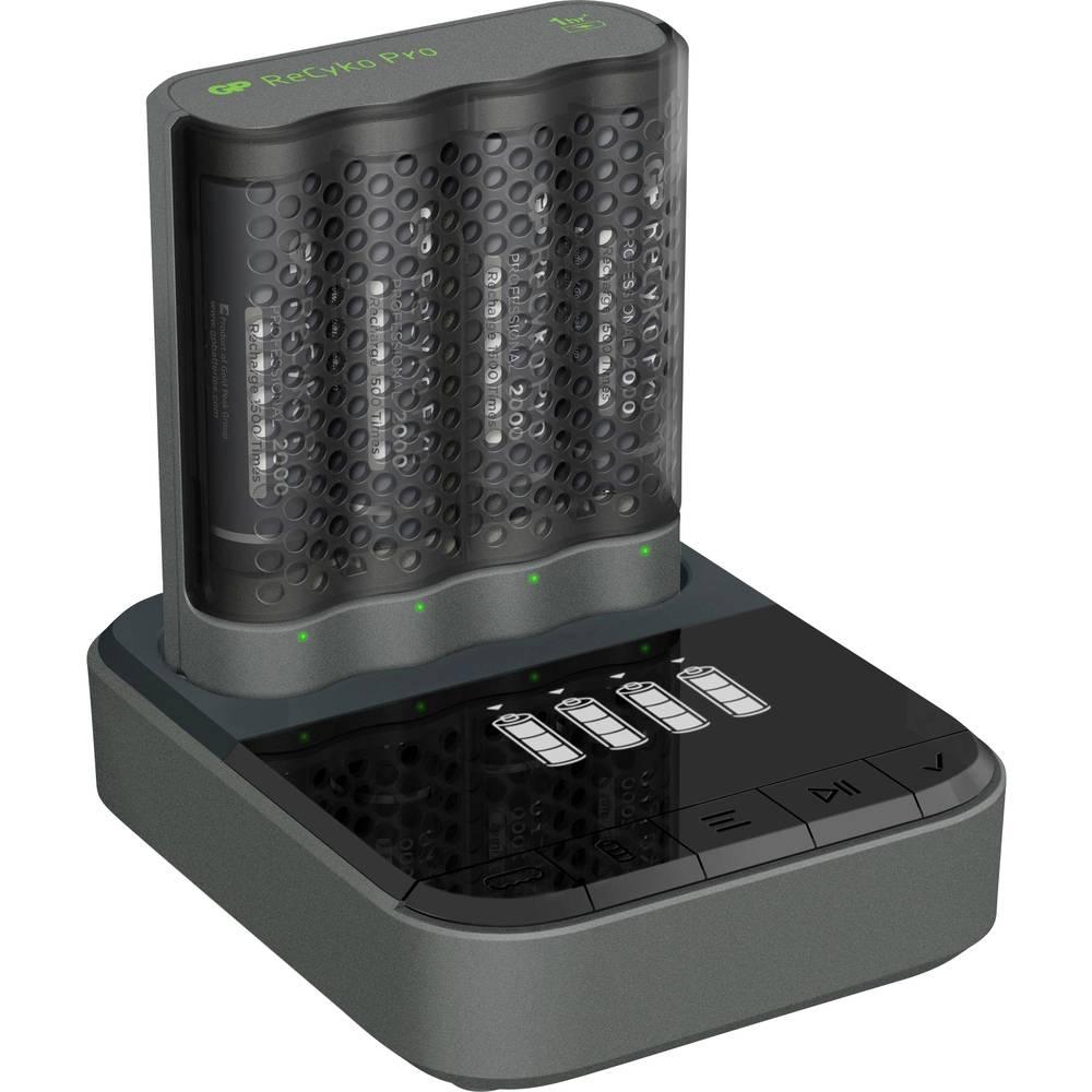 GP Batteries GPP4D46/210HCB-2B4 Batteriladdare inkl. batteri NiMH AAA (R03), AA (R6)