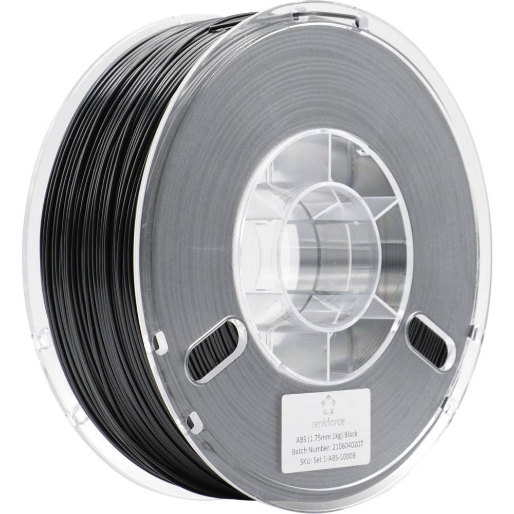 Renkforce RF-4738584 3D-skrivare Filament ABS-plast 1.75 mm 1000 g Svart 1 st