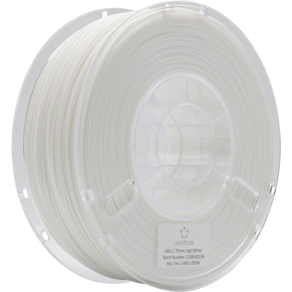 Renkforce RF-4738586 3D-skrivare Filament ABS-plast 1.75 mm 1000 g Vit 1 st