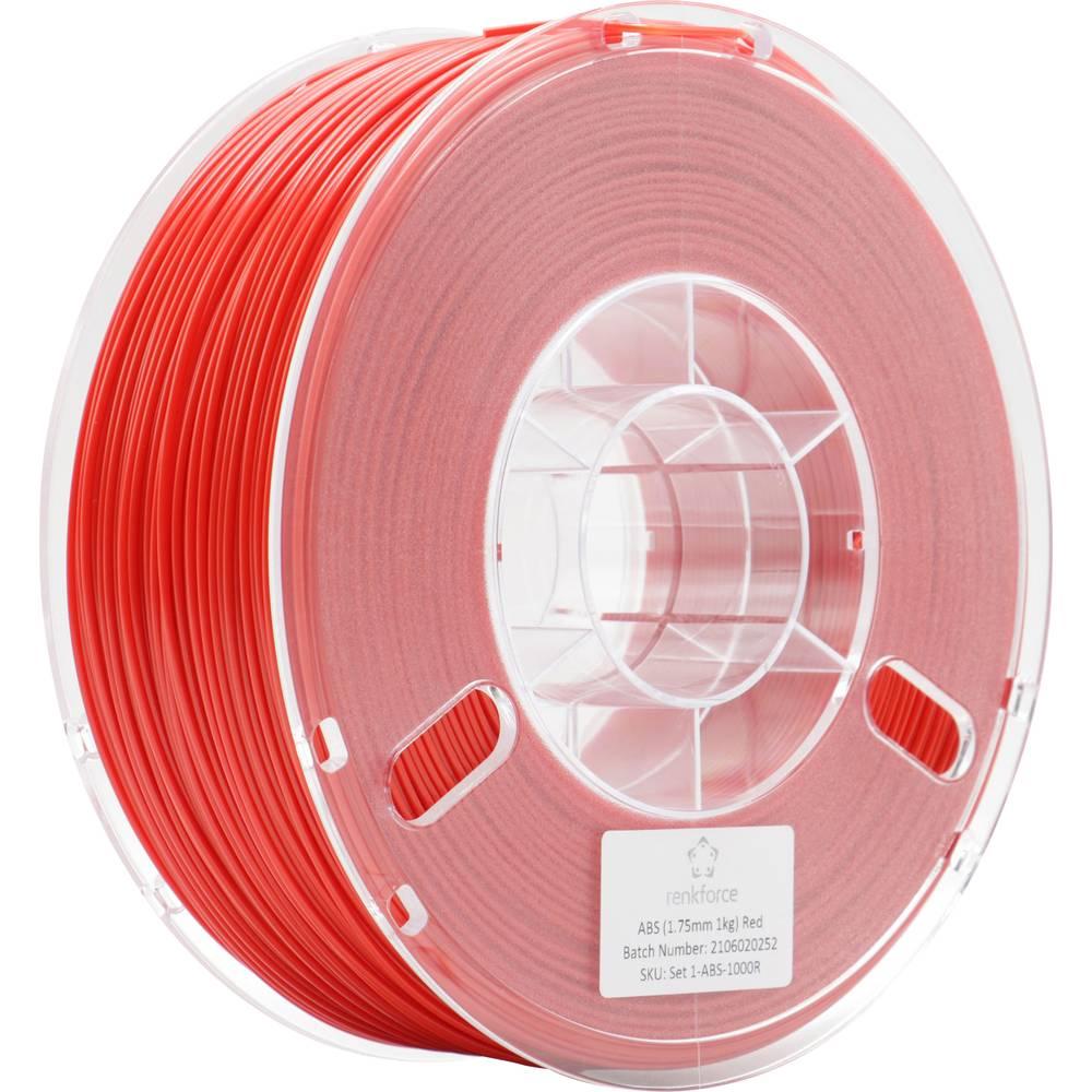 Renkforce RF-4738588 3D-skrivare Filament ABS-plast 1.75 mm 1000 g Röd 1 st