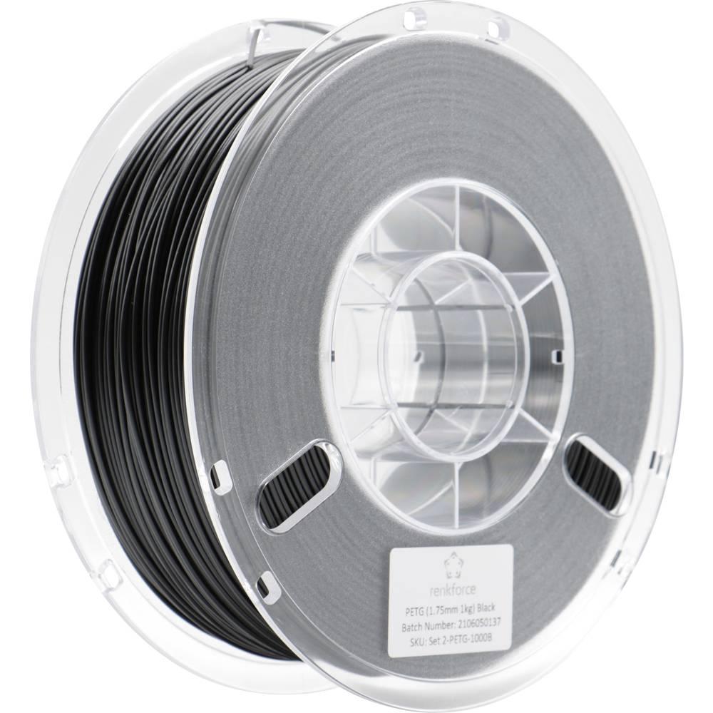 Renkforce RF-4738592 3D-skrivare Filament PETG 1.75 mm 1000 g Svart 1 st