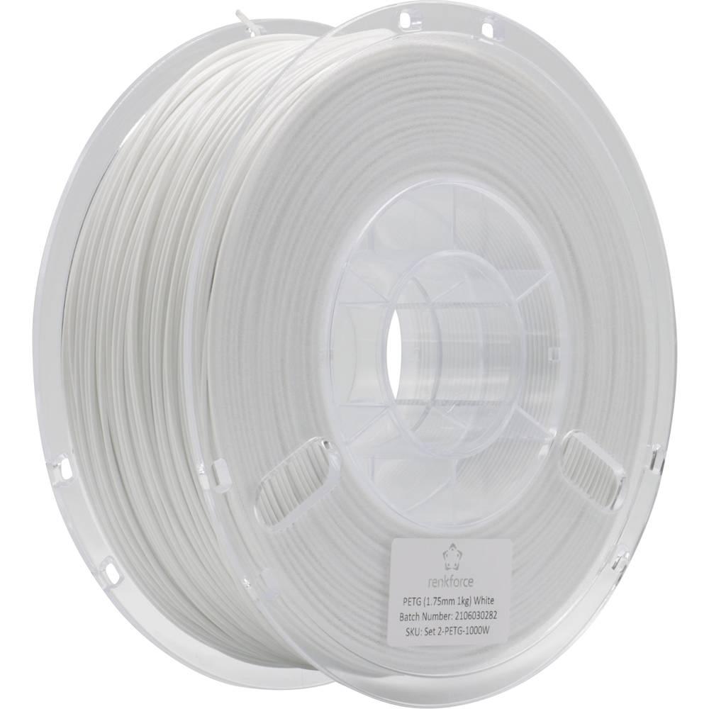 Renkforce RF-4738594 3D-skrivare Filament PETG 1.75 mm 1000 g Vit 1 st