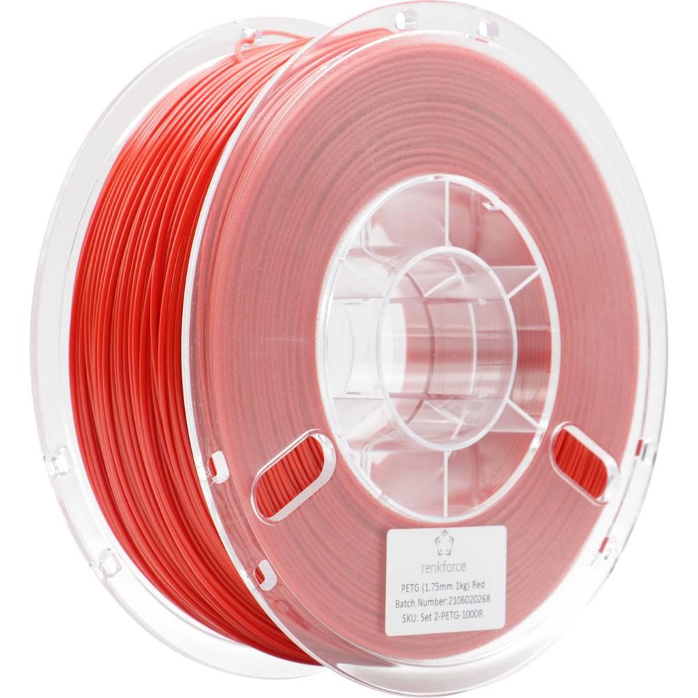 Renkforce RF-4738596 3D-skrivare Filament PETG 1.75 mm 1000 g Röd 1 st
