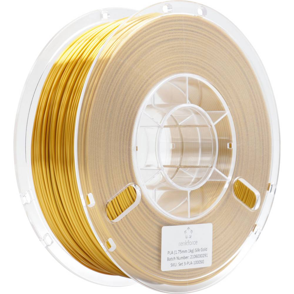 Renkforce RF-4738602 3D-skrivare Filament PLA-plast 1.75 mm 1000 g Guldgul 1 st
