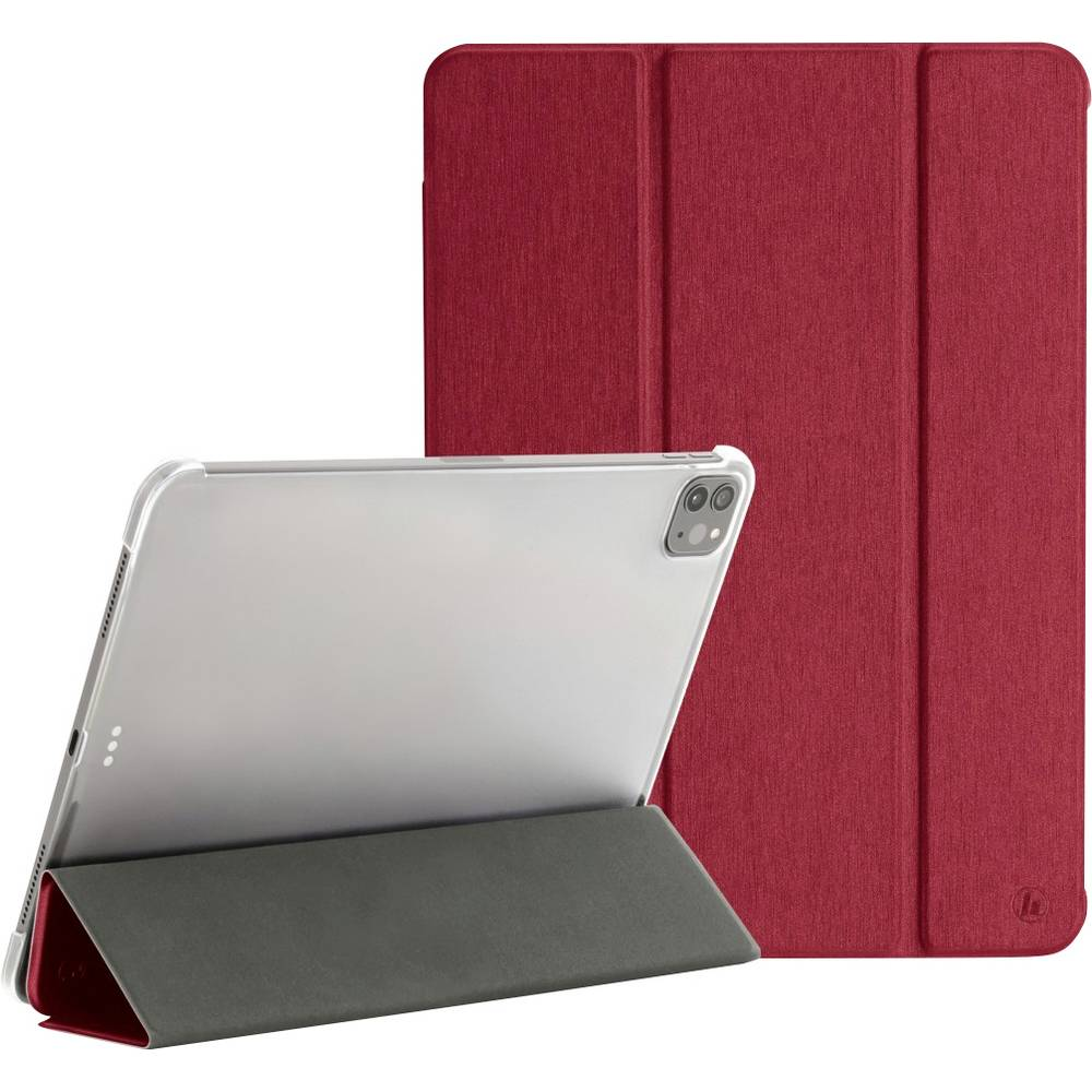 Hama Fold Clear BookCase Passar till Apple: iPad Pro 11, iPad Pro 11 (2:a generation), iPad Pro 11 (3:e generationen) Röd