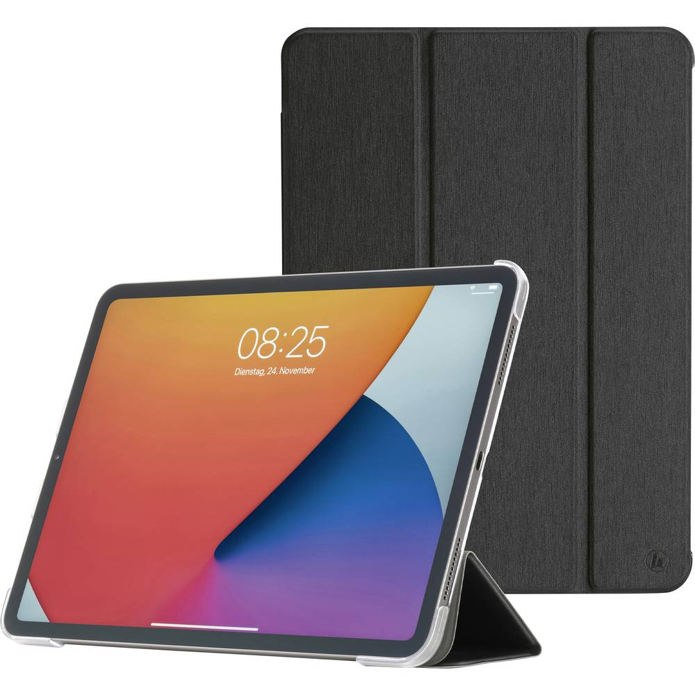 Hama Fold Clear BookCase Passar till Apple: iPad Pro 11, iPad Pro 11 (2:a generation), iPad Pro 11 (3:e generationen) Svart