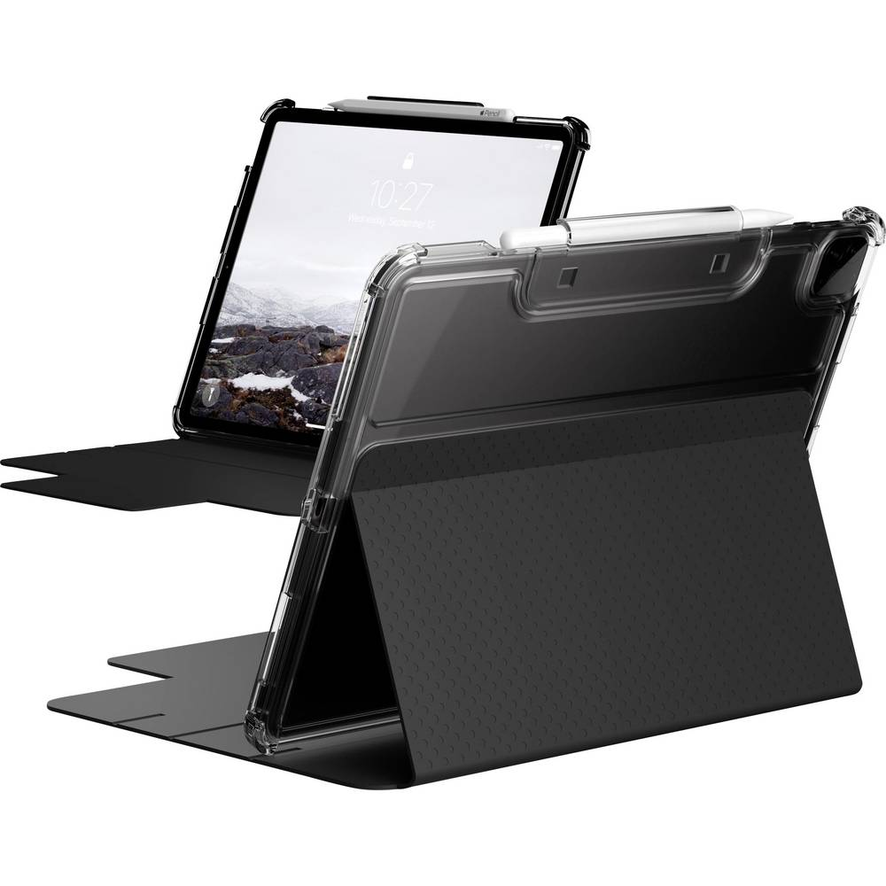 Urban Armor Gear Lucent BookCase Passar till Apple: iPad Pro 12.9 (4:de generation), iPad Pro 12.9 (5:e generationen) Svart, Transparent