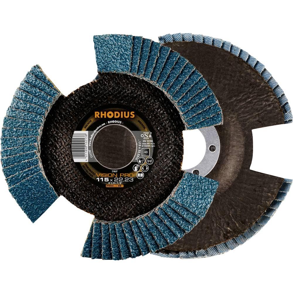 Rhodius 211306 Rhodius VSION PRO lamellslipskiva 115 x 22,23mm K40 INOX sned Diameter 115 mm 5 st