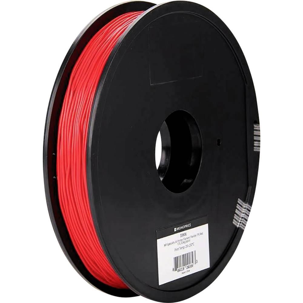 Monoprice 133906 Specialty 3D 3D-skrivare Filament TPE-plast flexibel 1.75 mm 500 g Röd 1 st
