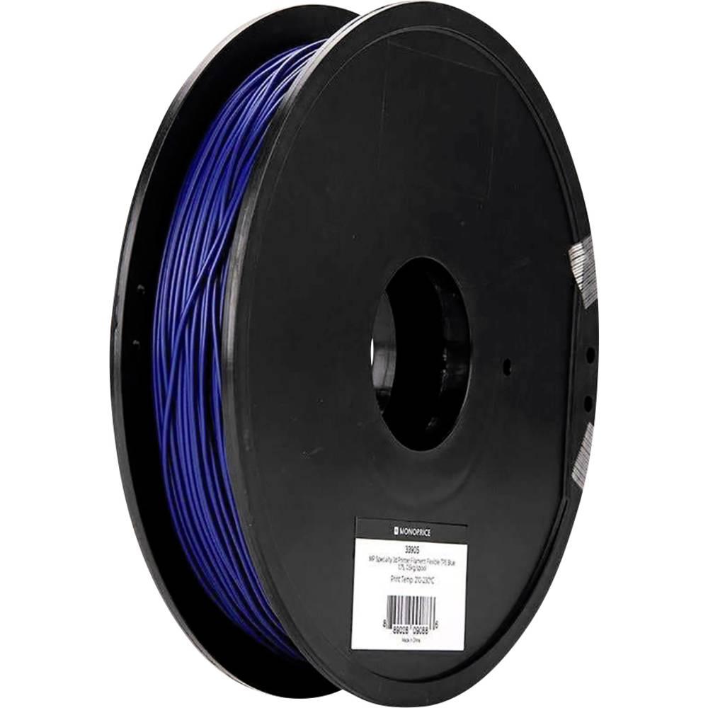 Monoprice 133905 Specialty 3D 3D-skrivare Filament TPE-plast flexibel 1.75 mm 500 g Blå 1 st