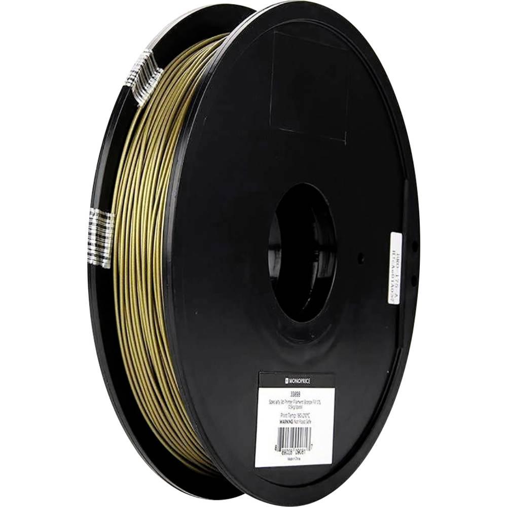 Monoprice 133898 Spezial-3D Bronzefüllung 3D-skrivare Filament 1.75 mm 500 g Brons 1 st