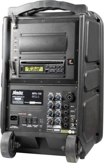 Alecto 100W MPA-130 Mobiele PA luidspreker 20.32 cm 8 inch werkt op een accu, werkt op het lichtnet 1 stuks