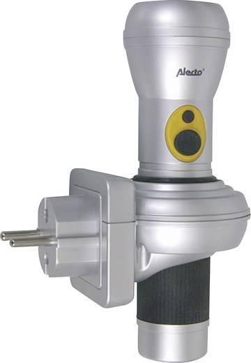 Alecto ATL-120S LED Zaklamp werkt op het lichtnet, werkt op batterijen