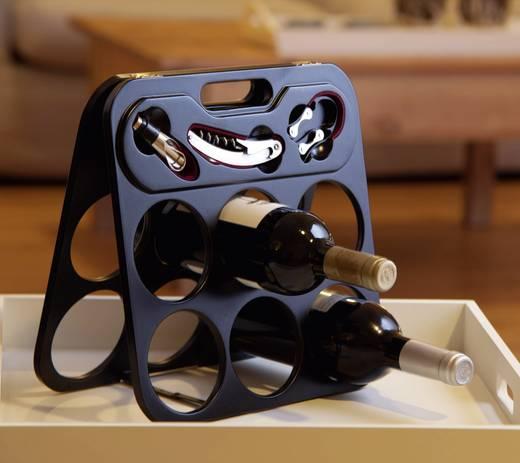 Luxe wijnrek met kelnersmes, schenktuit en snijder