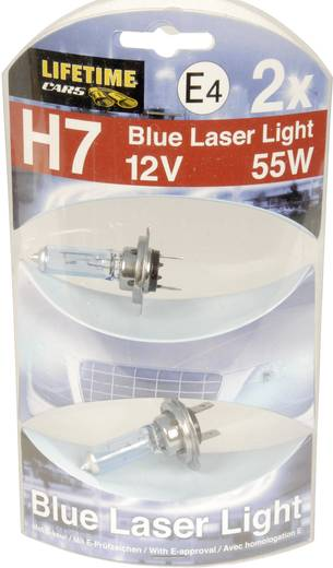 Lifetime Cars Blue Laser Light Halogeenlamp H7 55 W