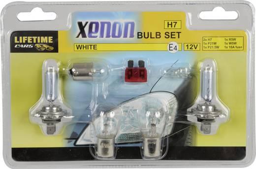 Lifetime Cars White Xenon Assortiment lampen H7, P21W, R5W, W5W